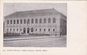 Massachusetts Boston Public Library Copley Square