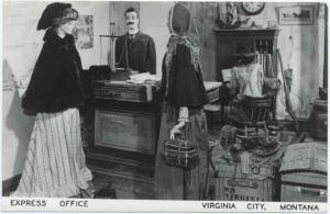 Interior View, Express Office, Virginia City Montana MT, RPPC