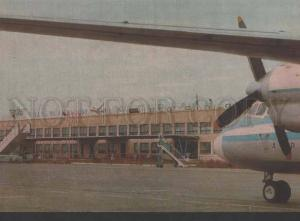 118906 USSR Kazakhstan ALMATY Alma-Ata AIRPORT old photo PC