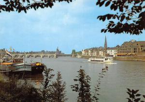 Netherlands Maastricht River St Servaasbrug Bridge Pont Bateaux Boats