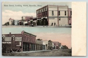 Renville MN~Dirt Main St N~Hardware Machinery~Paints~Oils~Stoves~Shoe Store~1910