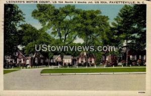 Leonard's Motor Court Fayetteville NC 1953