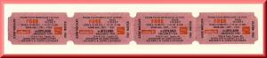 4 1987 Joyland Amusement Park Tickets, Topeka, Kansas/KS, WIBW-TV & Coke