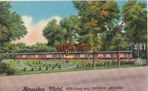 c1950's HORSESHOE MOTEL Phoenix AZ The Amberson's, Your Comfort is our Goal
