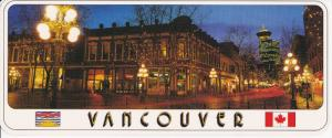 Panorama view , VANCOUVER , B.C. , Canada , 60-80s ; Gastown at night