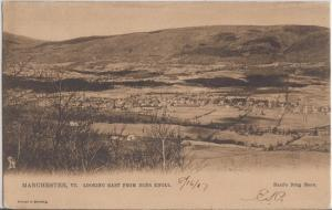MANCHESTER Vermont - PANORAMIC VIEW from DEER KNOLL - 1907