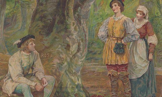 Shakespeare Rosalind & Celia Meet Orlando Ernest Nister Antique Postcard