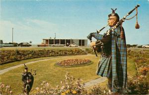 Amherst Nova Scotia~Piper Amherst Border~Bagpipers in Kilts~1960s Cars~Postcard