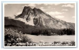 Postcard #726 Mt Burgess & Chalet Emerald Lake, BC, Canada D6