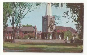 DE New Castle Delaware Old Academy and Immanuel Church 1950s Vintage Postcard