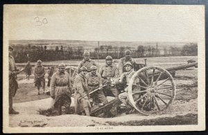 Mint France Real Picture Postcard RPPC Canon Of 75 In Action