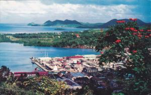 Aerial View, St Lucia, Caribbean, West Indies, 1940-60s