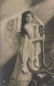 RP: Angel with anchor , 1907