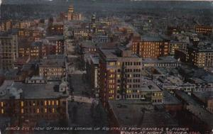 Colorado Denver Birds Eye View Looking Up 16th Street From Daniels & Fisher T...