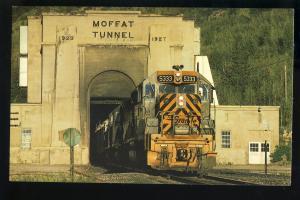 Rio Grande 5333 Train Postcard, Moffat Tunnel, East Portal, Colorado/CO
