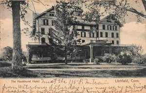 The Hawkhurst Hotel, Litchfield, Connecticut, Early Postcard, Used in 1906