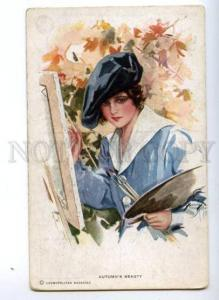 149018 Autumn's Beauty PAINTER by FISHER Vintage R&N 837 PC