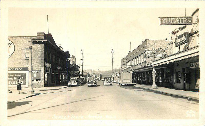 Auburn Way Autos >> Auburn Washington Autos 1940s Street Scene Ellis Rppc Real Photo
