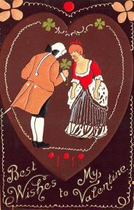 Raphael Tuck #Good Luck# #19 Best Wishes Valentine Postcard