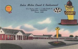 EMPORIA, Virginia, 30-40's; Belco Motor Court & Restaurant