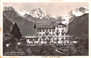Switzerland Old Vintage Antique Post Card Hotel Kurhaus Belmont 1937