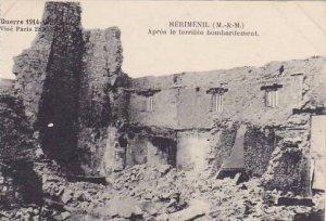 France Mont-Sur-Meurthe Herimenil Apres le terrible bombardement