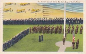 Texas Corpus Christi World's Largest Naval Air Base 1942 Curteich