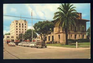Ocala, Florida/FL Postcard, Marion Hotel, Post Office, 1950's Cars, Woody