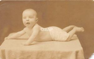 B94/ Fairmont West Virginia WV Real Photo RPPC Postcard c1910 Baby Studio
