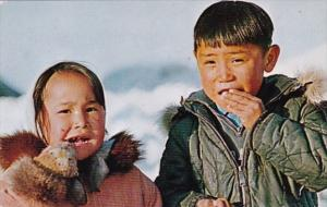 Alaska Eskimo Children From Ukivok King Island