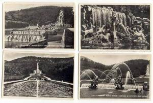 Lot Of 4, RP, Views Of Water Fountain, Italy, 10-20s