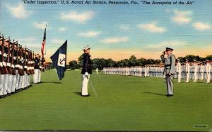 Florida Pensacola Cadet Inspection U S Naval Air Station 1944 Curteich