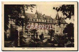 Old Postcard Arcachon Casino De La Plage
