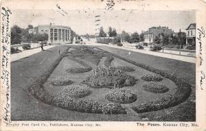 Mo. Kansas City, The Paseo, jardin, garden 1906