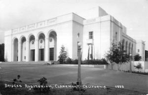Claremont California Bridges Auditorium Real Photo Antique Postcard K17808