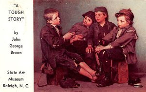 Artist Post Card A Tough Story by John George Brown State Art Mus...