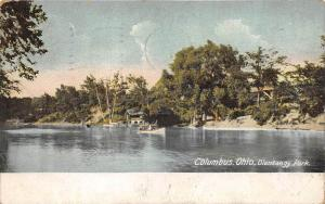 11682  OH Columbus  1907 Olentangy Park, canoes