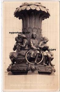 RPPC, Statue Children at Play, Albany NY