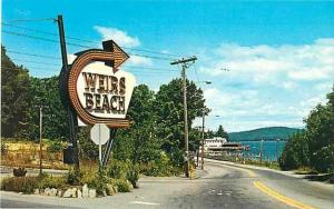 Entrance Sign to Weirs Beach New Hampshire NH