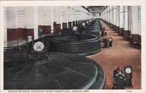 Iowa Keokuk Generator Room Mississippi River Power Plant 1940