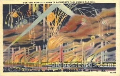 Lagoon of Nations 1939 New York USA, Worlds Fair Exposition, Postcard Post Ca...