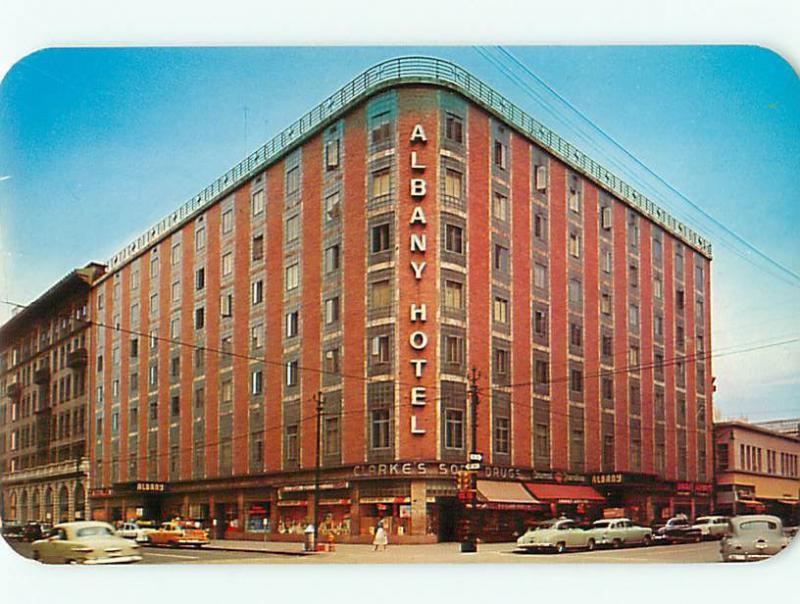 Denver CO Albany Hotel Since 1885 17th and Stout St Clarks Drug  Postcard # 5549