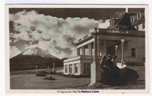 The Chateau Hotel Mt Ngauruhoe Volcano National Park New Zealand RPPC postcard