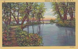 New York Chautauqua Lake Entrance To Inlet Curteich