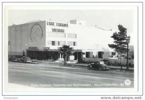 RPPC, Earl Carroll Theatre and Restaurant, Hollywood, CA, EKC RP