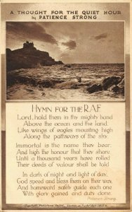 Vintage Postcard, Hymn for the RAF by Patience Strong DO3