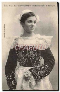 Old Postcard Folklore Young girl of Fouesnant