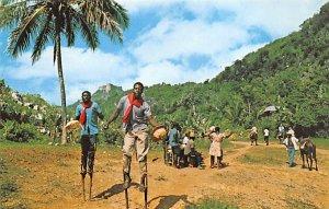 Voodoo and Stick Dancers on Road to Citadel Haiti Unused