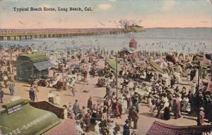 California Long Beach Typical Beach Scene