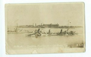 Postcard RPPC Hopkins Paul Jones at Old Point Virginia U Boats VPC02.